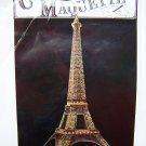 Vintage 1980s Eiffel Tower Greeting Card 3 D Postcard Carte Maquette Paris Souvenir Puzzle