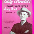 Vintage 1940s Eddy Arnold's Radio Favorites Music Song Book # A 1 Country Western Band