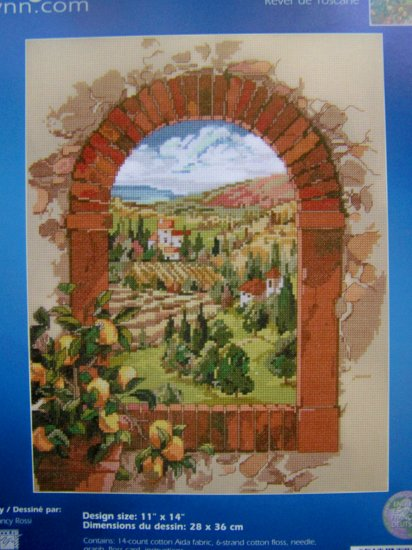 Counted Cross Stitch Kit Dreaming of Tuscany Janlynn Needlework 023-0244