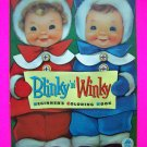 Vintage 1950s Blinky n Winky Beginners Coloring Paint Book Unused Merrill Pictures