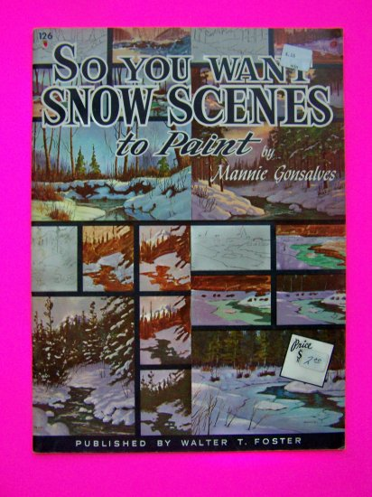 Vintage Learn to Paint Winter Landscape Snow Scenes Mountains Trees Streams