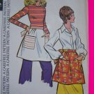 Uncut 1970s Vintage Apron Patch Pockets Sewing Pattern McCalls