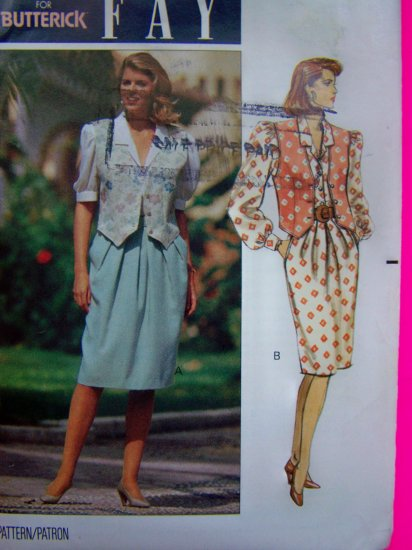 Pullover Blouson Dress Straight Skirt Shaped Hem Vest 12 14 16 Sewing Pattern 4892