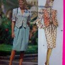Pullover Blouson Dress Straight Skirt Shaped Hem Vest 12 14 16 Sewing Pattern 4892