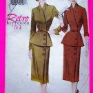 Retro 1951 Peplum Wrap Shirt Wiggle Skirt Belt Sewing Pattern 6241