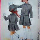 50s Vintage Girls 6 Trapeze Suit Skirt Jacket Sewing Pattern 4684