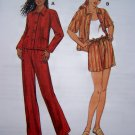 Uncut Loose Boxy Jacket Pull on Pants Shorts XS S M L XL Sewing Pattern 2768