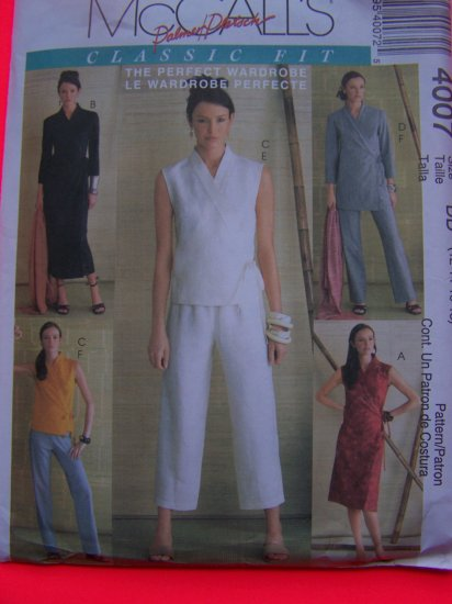 Wrap Dress Tops Pants 12 14 16 18  McCall's Wardrobe Sewing Pattern 4007
