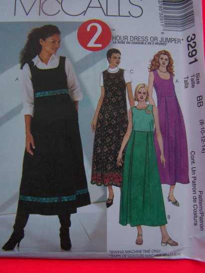 Scoop Neck Dress Jumper Sundress Sewing Pattern 3291 ` Penny USA Shipping