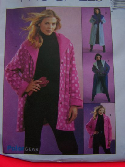 Reversible Coat Hoodie Jacket XS S M Sewing Pattern 4222 Free USA Shipping