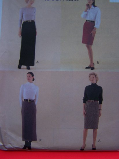 New McCalls Classic Fit 1 Hour Skirt 4 Lengths Sz 16 Sewing Pattern 9549 Free USA Ship