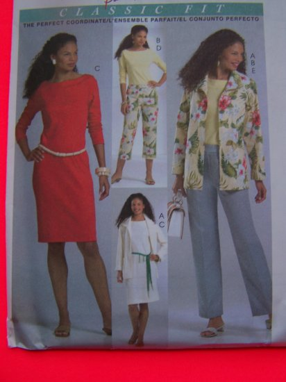 Unlined Jacket Top Dress Pants 2 Lengths 12 14 16 18 McCalls Sewing Pattern 4842