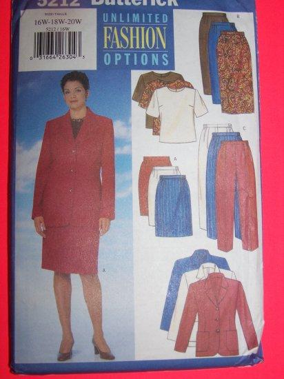Plus Size Womens Jacket Top Pants Suit 16 18 20 Sewing Pattern 5212