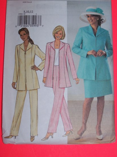 New Butterick Sewing Pattern 3705 Misses Jacket Skirt Pants 8 10 12