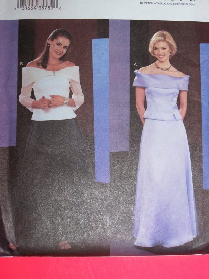 Off Shoulder Top Floor Length Skirt 2 Pc Dress Plus 18 20 22 Sewing Pattern 3663