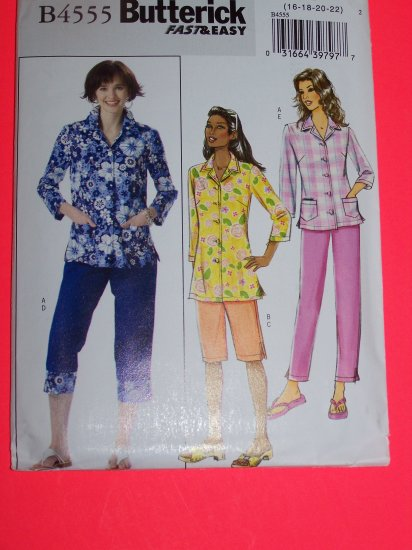 Plus Size Shirt Pants Capris Shorts 16 18 20 22 Fast Easy Sewing Pattern 4555