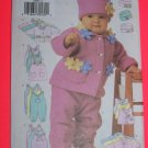 L XL Infant Fleece Jacket Vest Jumper Dress Jumpsuit Hat Sewing Pattern 6280 1 Penny USA Shipping