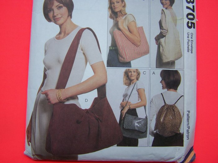 Totebag Backpack Slingbag Messenger Bag Tote Purse Accessories Sewing Pattern 9705