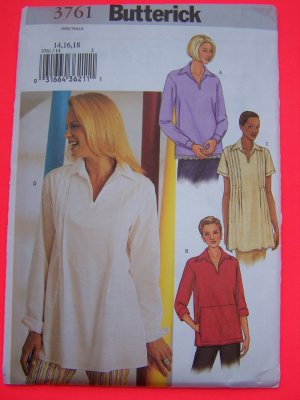 Misses Front Tucks Top Sleeve Variations 8 10 12 Sewing Pattern 3761 *1 Penny USA Shipping
