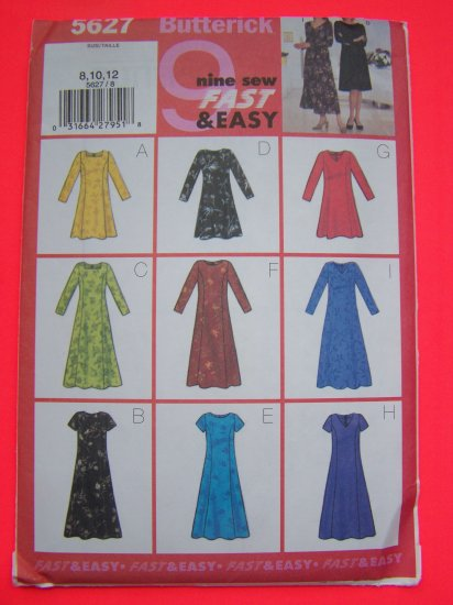 9 Easy Misses A Line Dress Princess Seams 8 10 12 Sewing Pattern 1 Penny USA Shipping