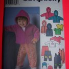 Babies Winter Overalls Jacket Vest Pants Top Hat Sewing Pattern 5316
