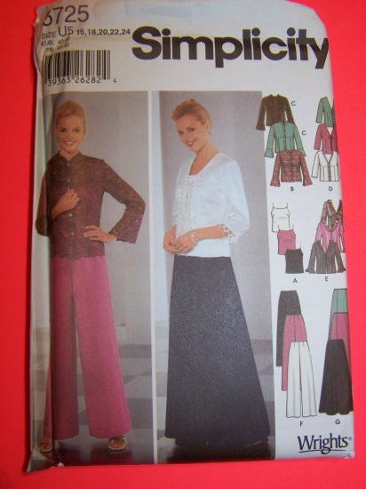 2 Pc Dress Evening Cami Pants Shirts Plus Size 16 18 20 22 24 Sewing Pattern 5725