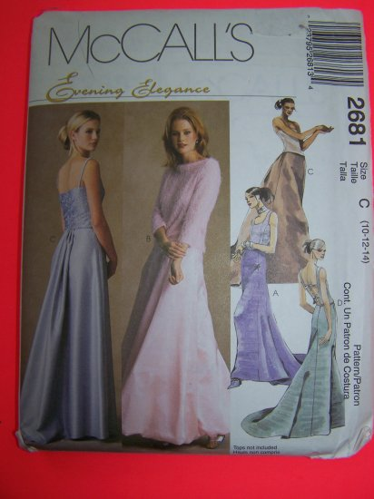 McCall's Evening Elegance A Line Skirts Train Detail Sewing Pattern 2681 Penny Shipping