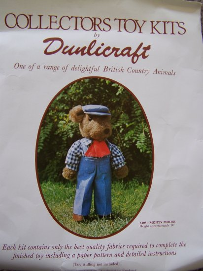 Monty Mouse Country Stuffed Doll & Clothes Craft Kit Dunlicraft Toy Crafts