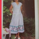 Vintage 1980s Pinwheel Sundress Jumper Dress 6 8 10 12 14 16 Sewing Pattern 8706