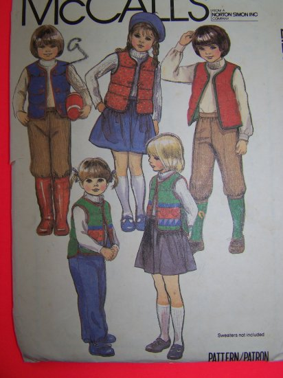 Childrens Vintage Sewing Pattern Sz 3 Quilted Vest Pants Knickers Skirt 7756