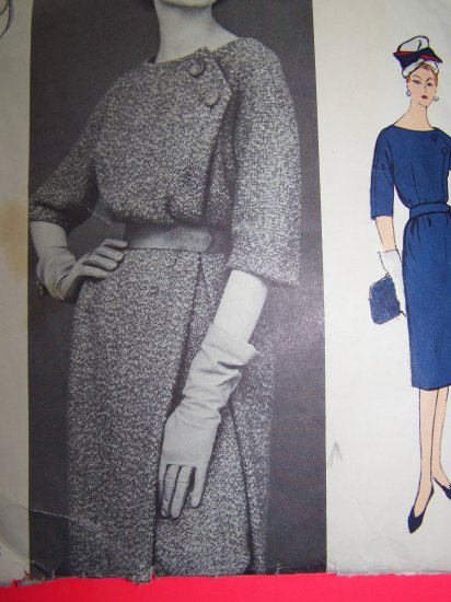 Uncut Vintage Dress Designer Guy Laroche Paris Original Vogue Sewing Pattern 1473 with Label