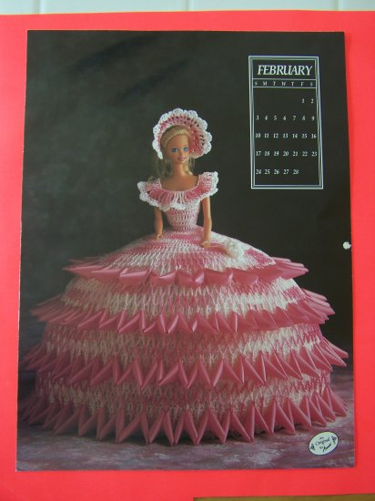 Annies Attic Thread Crochet Doll Dress Pattern Ball Gown February 1991