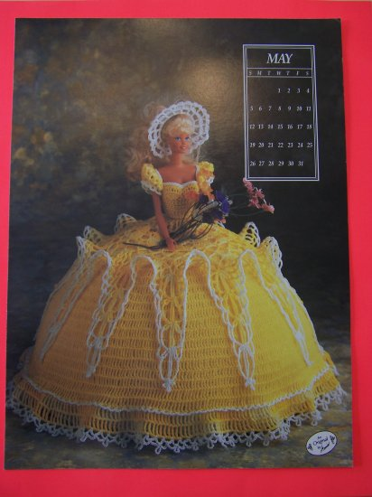Crochet Pattern Barbie Bed Doll Southern Belle Dress And