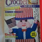Crochet World 30 Pattern Magazine Dress Pot holders Patriotic 1 Dollar USA S&H