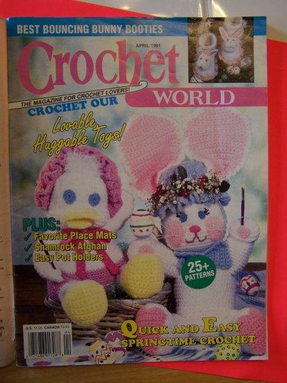 Crochet World 25 Patterns Crocheting Magazine Easter Pot Holder Afghan