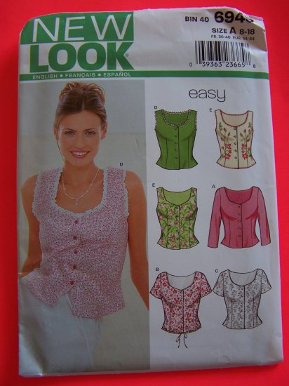 Easy Sewing Pattern 6945 Tops Summer Fitted Camisole Shirts 1 Penny Shipping