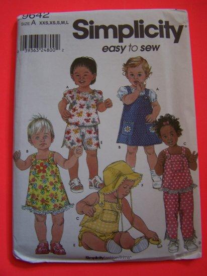 Infant Tops Sundress Jumper Dress Pants Shorts Hats Summer Sewing Pattern XXS XS S M L Babies