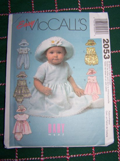 Infant Sewing Pattern Dress Romper Panties Hat 13 - 24 Lbs 2053 Dollar USA SHipping