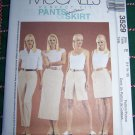 Misses 14 16 18 Pants Shorts Skirt in Two Lengths McCalls Perfect fit Sewing Pattern 3529