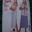 McCalls Sewing Pattern 2730 SunDress Unlined Jacket Dress 10 12 14 16