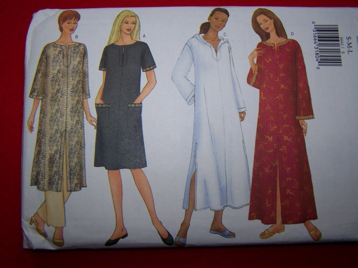Caftan Sewing Pattern S M L 8 10 12 14 16 18 Butterick 6641