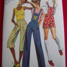 Vintage Hippie Hot Pants Shorts Gaucho with Detachable Bib Sewing Pattern 9375 US $1 SHip
