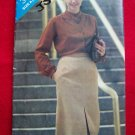 Vintage Straight Skirt Front Hem Slit 8 10 12 Sewing Pattern 3267 USA 1 Penny Ship