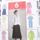McCall's Sewing Pattern 4367 Princess Seam Tops 2 Length Skirts 12 14 16 18 USA $1 S&H