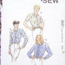 Uncut Misses Sewing Pattern 2662 XS S M L XL Set of Blouses Button Up Shirts