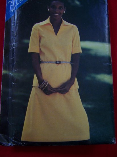 Vintage Sewing Pattern 12 14 16 Top & A Line Skirt 3199 Patterns $5 and Less