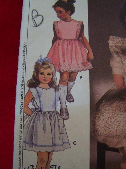 Girls Vintage Sewing Pattern Pinafore Dress Scalloped Ruffled Sundress 9085 Patterns Sale $5 or LESS