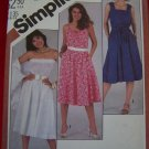 Vintage Sewing Pattern Flared Skirt Sundress or Strapless Dress 5498 Patterns Sale