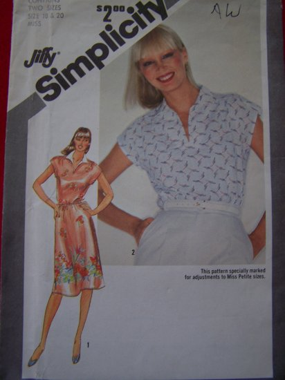 Vintage Pullover Dress or Top 18 20 Sewing Pattern 9917 Patterns Sale + USA $1 Shipping