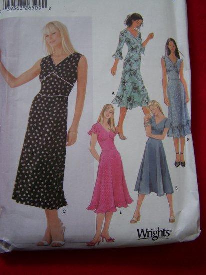 Simplicity Sewing Pattern 5591 V Neck Dress Flared Ruffle Skirt 4 6 8 10